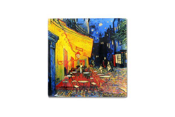 Тарелка квадратная Ночная терраса кафе (Ван Гог) без индивидуальной упаковки, CAR198-7309