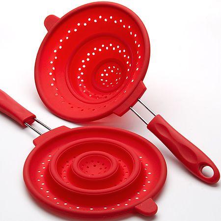 Дуршлаг Mayer&Boch из силикона с силиконовой ручкой 20 см красного цвета 4434-1