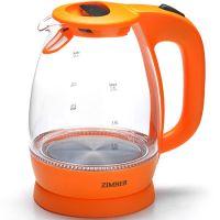 Электрический чайник стекло 1,7л 2200 Вт ZIMBER, 11177