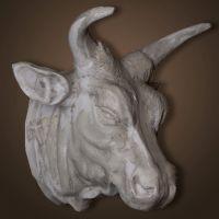 Декор ROOMERS «Голова быка» цвет серый 4058