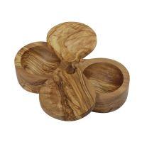 Солонка LE PALAIS двойная из оливкового дерева 18x5x4,5 см 17059