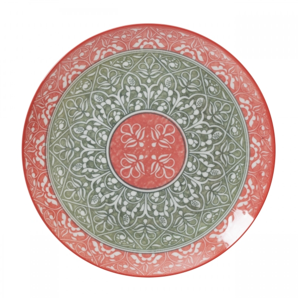 Тарелка десертная ORIENTAL RED 19 см