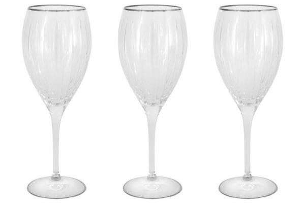 Набор: 6 хрустальных бокалов для вина Пиза серебро, SM2101_1_SAL