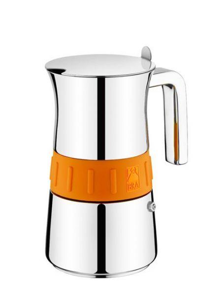 Кофеварка гейзерная BRA Elegance Induction Orange на 10 чашек