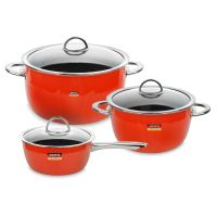 Набор посуды KOCHSTAR из 3-х предметов, цвет оранжевый NEO Orange, ORANGE-1