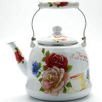 Чайник металлический эмалированный 5 л со стеклянной крышкой Mayer&Boch, 23079