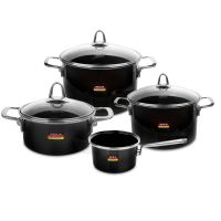 Набор посуды KOCHSTAR из 4-х предметов, цвет темно-серый Metallica SOLID, ONYX-2