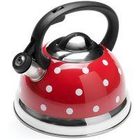 Чайник из металла 2,6 л, с крышкой красного цвета Mayer&Boch, 25661