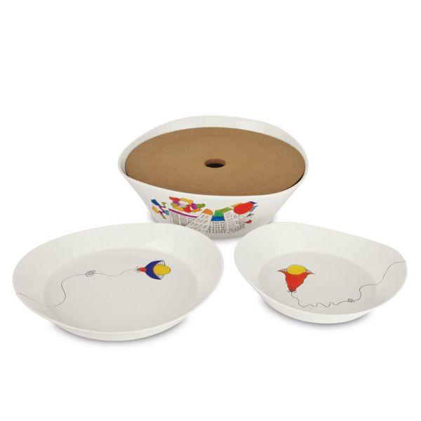 Набор тарелок для супа BergHOFF Eclipse ornament 2 шт 20 см 3705004