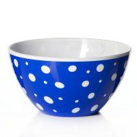 Салатник «Горошек» 1,45 л цвет бело-синий M2732