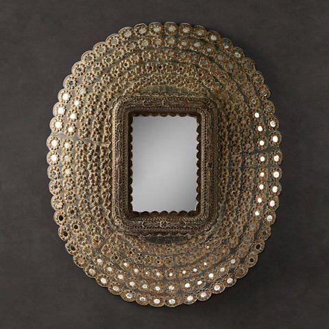 Зеркало RESTORATION HARDWARE «Пикок» A031