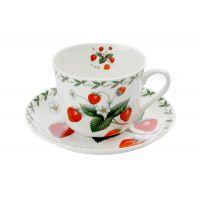 Чашка с блюдцем Земляника в подарочной упаковке, MW637-PB8107
