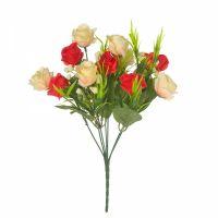 Роза в букете 7 цветов на стебле микс
