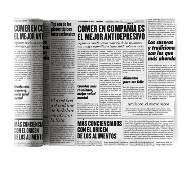 Салфетки MY DRAP 20x20 см 12 шт в рулоне Newspaper, SA21NW/101-7