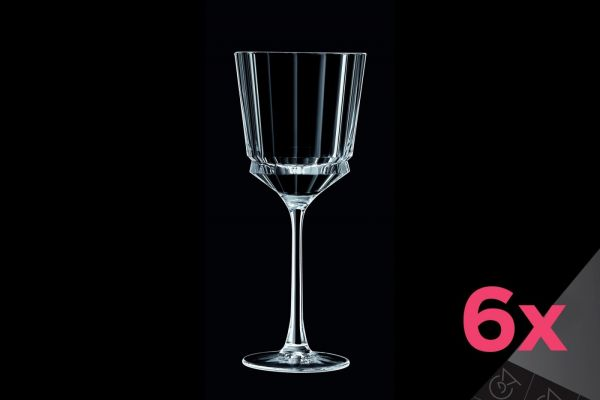 Набор бокалов для вина 250 мл CRISTAL D'ARQUES MACASSAR 6 шт, L6589