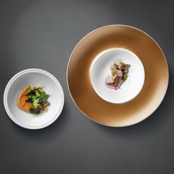 Глубокая тарелка и миска чёрные BergHOFF 1698003