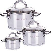 Набор посуды Mayer&Boch 6 предметов 2 л, 2,8 л, 3,8 л 29052