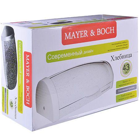 Хлебница Mayer&Boch 43 см из нержавеющей стали цвет белый 29326