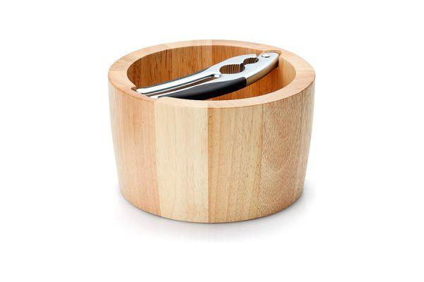 Миска для орехов Continenta с щипцами материал каучуковое дерево 013.022700.003
