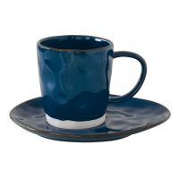 Чашка с блюдцем (синий) Interiors без индивидуальной упаковки