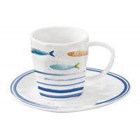 Чашка с блюдцем Морской берег в подарочной упаковке Easy Life EL-R1985/BORD