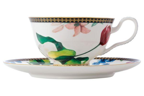 Чашка с блюдцем (белый) Contessa в подарочной упаковке