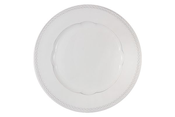 Тарелка обеденная Augusta (белый)  без индивидуальной упаковки