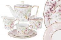 Чайный сервиз Цветы 21 предмет на 6 персон