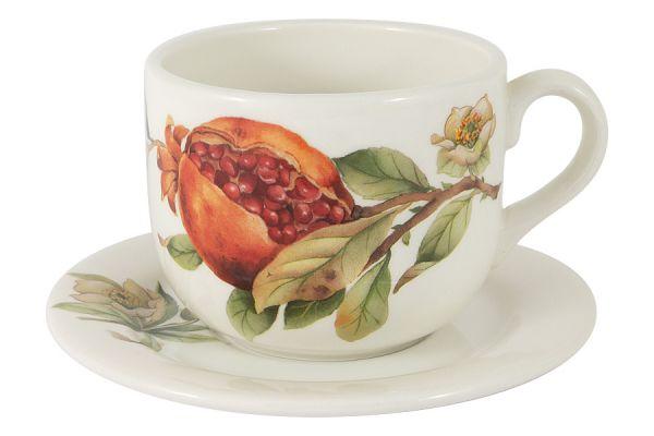 Чашка с блюдцем Гранат без индивидуальной упаковки