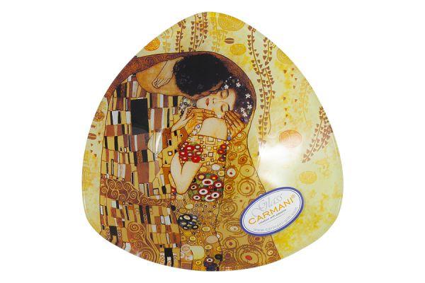 Тарелка треугольная Поцелуй (Г.Климт) Carmani без индивидуальной упаковки CAR198-1132