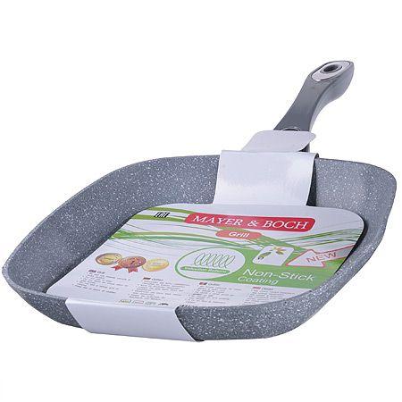 Сковорода-гриль Mayer&Boch 24 см с покрытием из мраморной крошки 26752