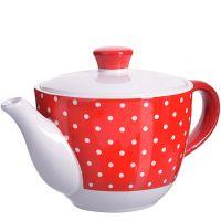 Заварной чайник Loraine «Красный узор» 900 мл с крышкой 25859