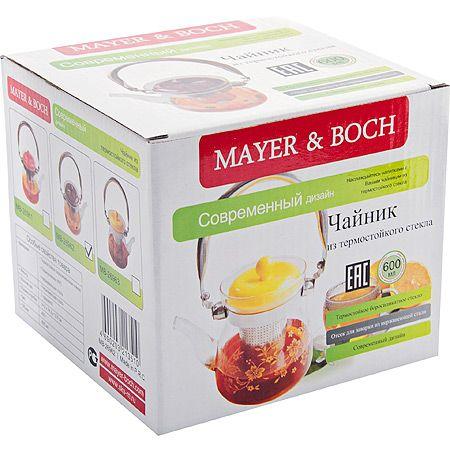 Заварочный чайник Mayer&Boch 600 мл с крышкой 400 г 26962
