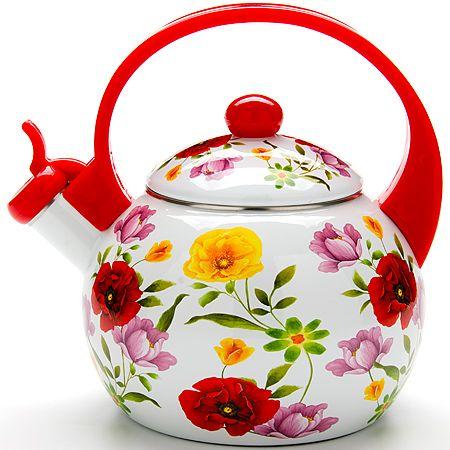 Чайник 2,2 л, покрытие из эмали свистком Mayer&Boch, 23865