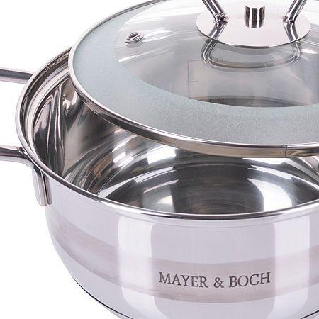 Кастрюля Mayer&Boch 1 л 800 г с крышкой из нержавеющей стали 25406