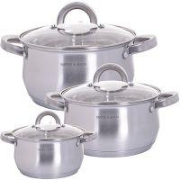 Набор посуды Mayer&Boch 6 предметов 2,3 л, 3 л, 3,6 л 29161