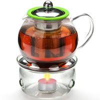Чайник из стекла 800 мл с подогревом и сито Mayer&Boch, 25674