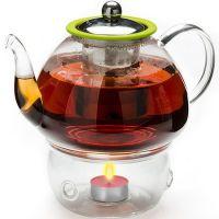 Чайник из стекла 1,2 л с подогревом и ситом Mayer&Boch, 25677