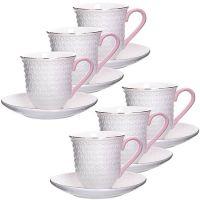 Чайный сервиз Loraine 12 предметов 220 мл костяной фарфор белого цвета 29011