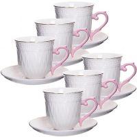 Чайный сервиз Loraine 12 предметов из фарфора 220 мл в подарочной упаковке 29013