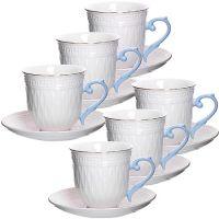 Чайный сервиз Loraine 6 чашек 220 мл и 6 блюдец в подарочной упаковке 29018