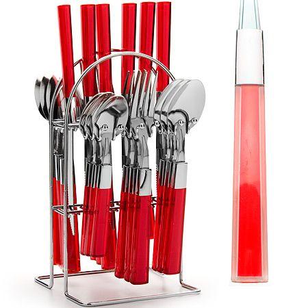 Набор столовых приборов Mayer&Boch красного цвета 20686-2