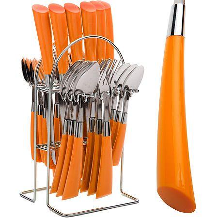 Набор столовых приборов Mayer&Boch 25 предметов оранжевого цвета 20687-2