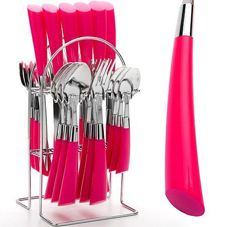 Набор столовых приборов Mayer&Boch розового цвета 20687-3