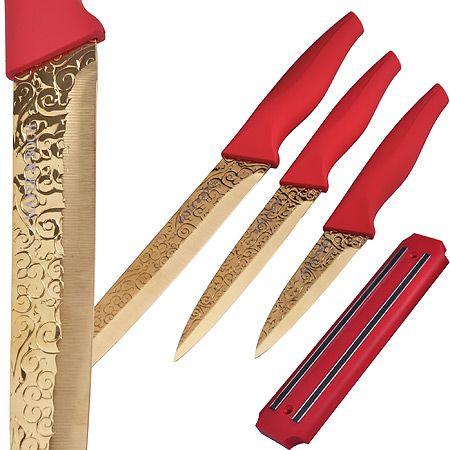 Набор ножей Mayer&Boch 3 шт и магнитная подставка-держатель 24139