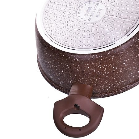 Кастрюля Mayer&Boch 2,6 л 20 см литая алюминиевая с крышкой и покрытием из мраморной крошки 25079