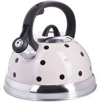Чайник 2 л, с крышкой из металла белого цвета Mayer&Boch, 25660
