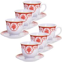 Чайный набор 12 предметов 220 мл фарфор подарочная упаковка LORAINE, MB-28583