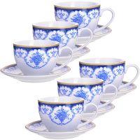 Чайный набор 12 предметов 220 мл фарфор подарочная упаковка LORAINE, MB-28585