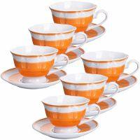 Чайный набор 12 предметов 220 мл фарфор подарочная упаковка LORAINE, MB-28596